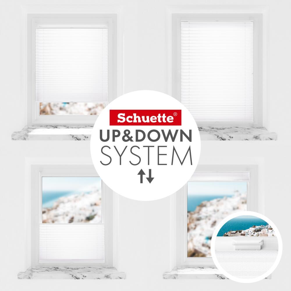 Schuette® Dachfenster Plissee nach Maß • Thermo Kollektion: White Day (Weiß) • Profilfarbe: Weiß