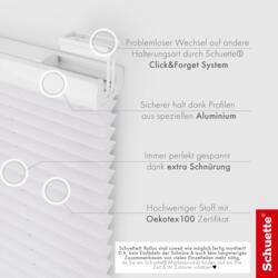 Schuette® Dachfenster Plissee nach Maß • Dolomite Kollektion: Cold Morning (Grau) • Profilfarbe: Weiß