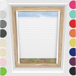 Schuette® Dachfenster Plissee nach Maß • Premium Kollektion: White Day (Weiß) • Profilfarbe: Weiß