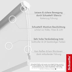 Schuette® Verdunkelungsrollo ohne Bohren & mit Bohren 2in1 ● Thermo Rollo Kollektion: Snowflake (Weiß) ● Profilfarbe: Weiß