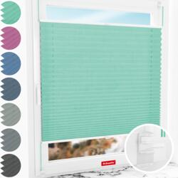 """Schuette® Pleated Blind Made to Measure without Drilling • Suprafix Clamp holder """"Incognito"""" Standard"""" • Melange Collection: Mint Ice Cream (Green) • Profile Colour: White"""