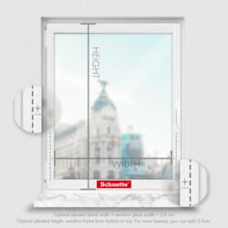 Schuette® Pleated Blind Made to Measure without Drilling • Dolomite Collection: Cold Morning (Grey) • Profile Colour: White