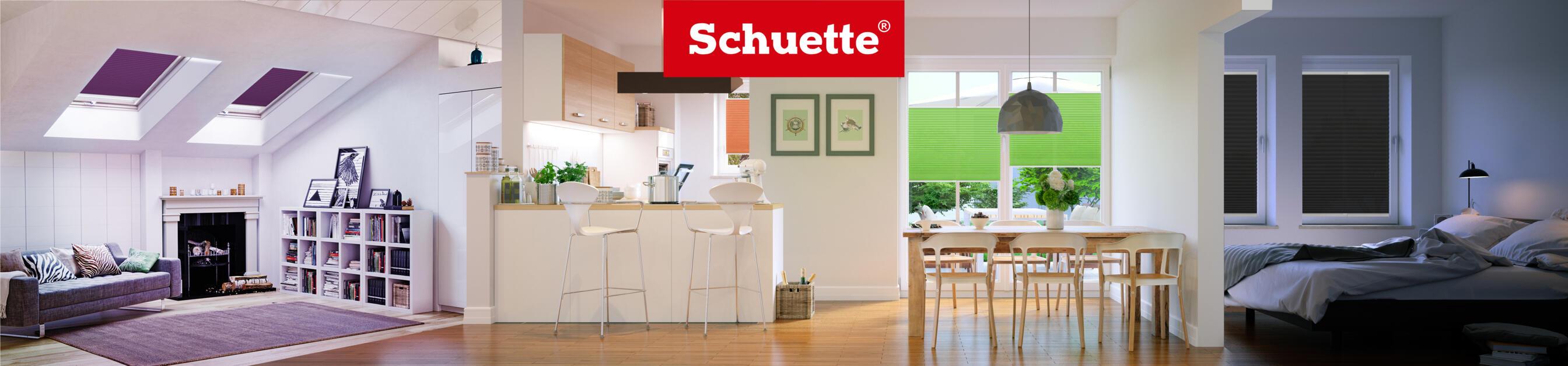 Stores plissés Schuette® sur mesure sans perçage • Collection Melange: Mint Ice Cream (Vert) • Couleur du profil: Blanc
